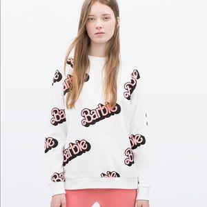 Zara TRF Barbie Logo Sweatshirt, S 🎀💕 (NWOT)